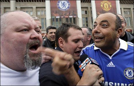 Fans shouting