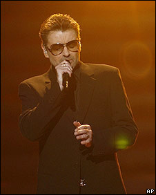 George Michael performs on American Idol