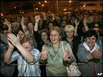 Opposition supporters in Tbilisi 21/05/08
