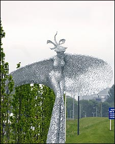 The Rise sculpture