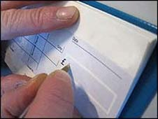 A cheque book