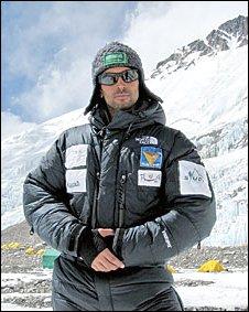 Farouk al-Zuman in the Himalayas (photo courtesy of Arab News)