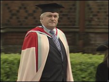 Bertie Ahern and Tony Blair both received law doctorates