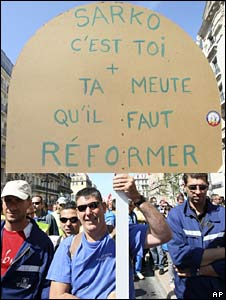 Civil servants rally in Marseille 22 May 2008