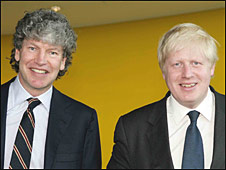 First deputy mayor Tim Parker and mayor Boris Johnson (r)