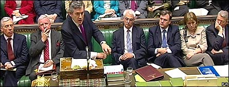 Gordon Brown in PMQs in the House of Commons
