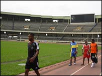 The National Stadium in DR Congo