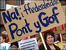 School closure protest in Gwynedd