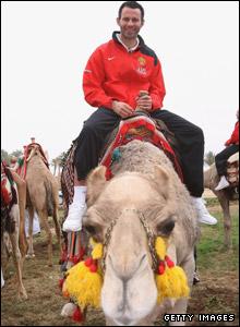 Ryan Giggs rides a camel