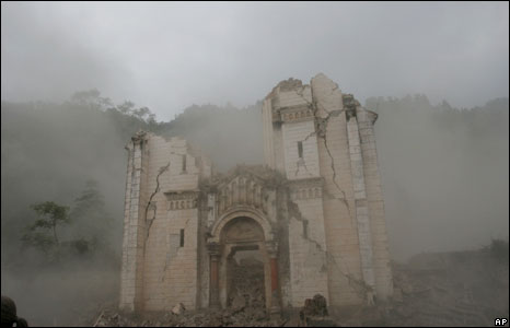 Destroyed seminary in Pengzhou