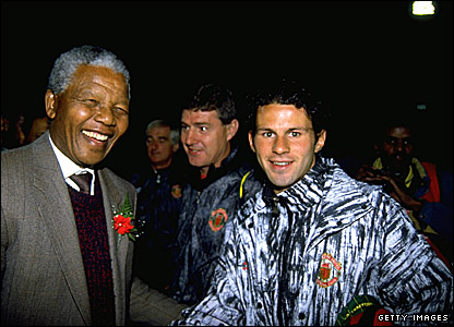 Nelson Mandela and Ryan Giggs
