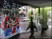 Euro 2008 countdown clock in Bern