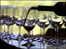 Wine is poured into a glass (file photo)