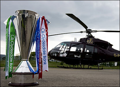 The Scottish Premier League Trophy awaits a destination