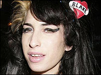 Amy Winehouse at the Ivor Novellos
