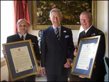 Coastguards with Prince Charles