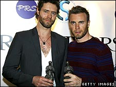 Take That's Howard Donald (left) and Gary Barlow