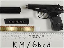 Seized handgun