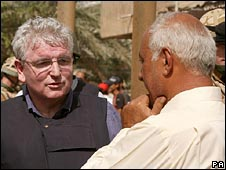 Des Browne in Basra