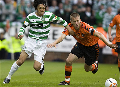Celtic's Shunsuke Nakamura and United's Danny Grainger