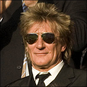 Celebrity Celtic fan Rod Stewart