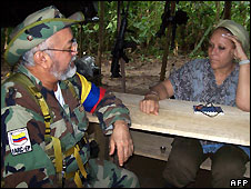 Senator Piedad Cordoba (right) with killed Farc leader Raul Reyes - 14/9/2007