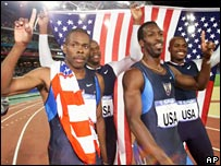 Antonio Pettigrew (left) won Olympic gold in 2000