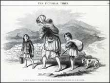 Illustration of Irish Famine (Mary Evans Picture Library)