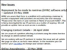 HMRC web site
