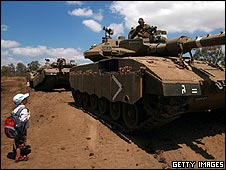 Israeli tanks in the Golan Heights, which Israel captured from Syria in 1967