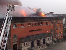 Shettleston Hall fire, picture by Peter Hadviger