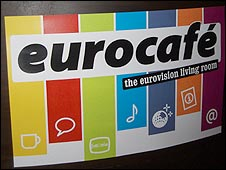 Eurocafe sign