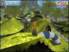 Screenshot from Adventure Rock, BBC