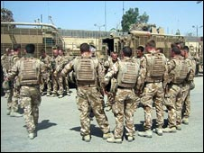 Soldiers in Basra