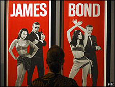 James Bond posters currently on display at the Imperial War Museum exhibition For Your Eyes Only