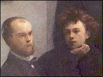 Paul Verlaine (izq.) y Rimbaud, en un cuadro de Henri Fantin-Latour, Musée d'Orsay, París