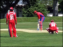 Jersey v Singapore at Grainville during the WCL Division 5 Tournament