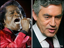 James Brown and Gordon Brown