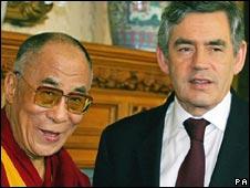 The Dalai Lama and Gordon Brown