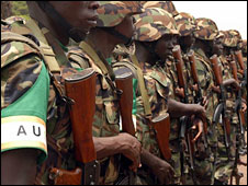 Ugandan peacekeepers preparing to go to Somalia