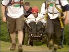 Rhys Llewellyn-Williams and his team