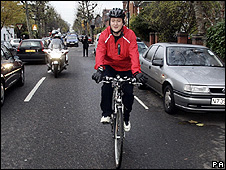 David Cameron cycling (Image: PA)