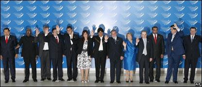Mandatarios sudamericanos en Brasilia