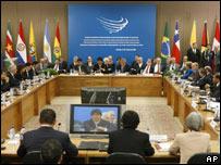 Sesión de la Cumbre de Unasur