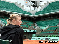 Sharapova has been back on Philippe Chatrier Court already this week
