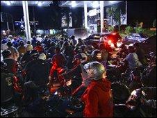 Petrol queue in Yogyakarta - photo 23 May