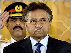 President Pervez Musharraf (image from 25 March)