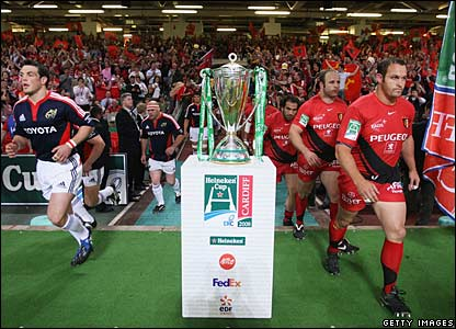 Munster and Toulouse teams and the Heineken Cup