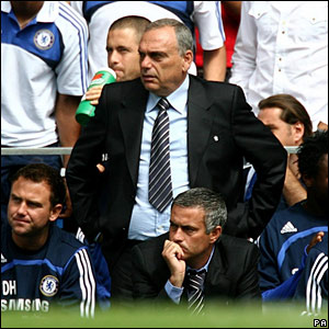 Avram Grant with Jose Mourinho