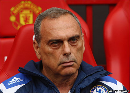 Avram Grant at Old Trafford